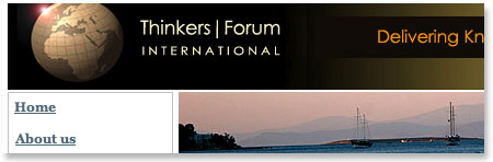 Thinkers Forum website photo